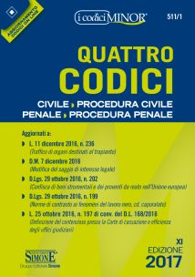 QUATTRO CODICI - Editio Minor - Civile e Procedura Civile - Penale e Procedura Penale